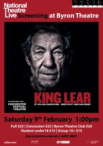 King Lear by William Shakespeare – National Theatre Live Screening starring Ian McKellen presented by Byron Theatre @ Byron Theatre