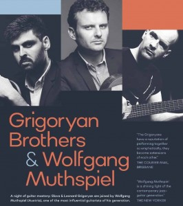 Grigoryan Brothers and Wolfgang Muthspiel presented by Raz Music @ Byron Theatre