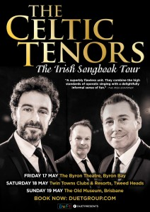 "The Celtic Tenors ""The Irish Songbook Tour"" Australia 2019 presented by Duet Productions @ Byron Theatre"